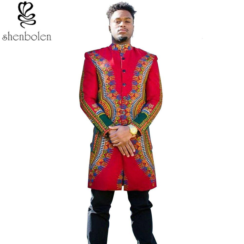 spring autumn summer 2017 African man coat dashiki wax batik printing pure cotton long sleeve jacket Men clothing free shipping