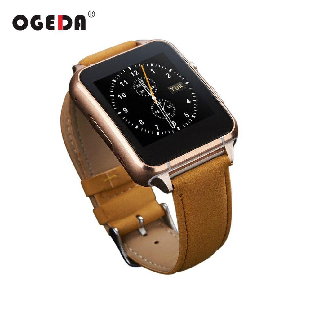OGEDA Bluetooth Smart Uhr X7 Mit Kamera Facebook Whatsapp Twitter Sync SMS Smartwatch Unterstützung SIM TF Karte Für Android