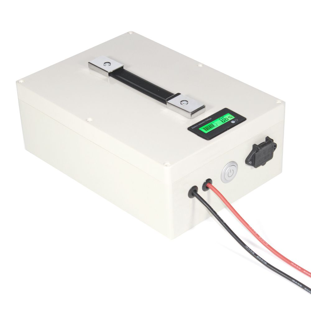 2 PCS 51.2V 20AH LiFePO4 Battery Portable Box with BMS and Charger