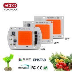 10pcs COB LED Grow Chip Phyto Lamp Full Spectrum 20W 30W 50W LED Diode Grow Lights For Seedlings Indoor DIY Hydroponics AC 220V