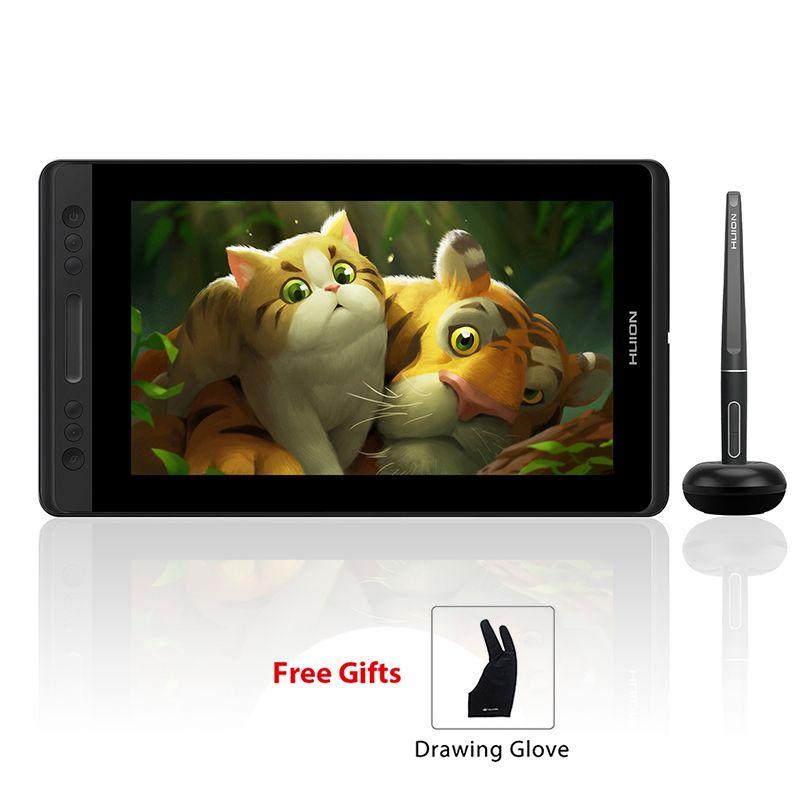 HUION Kamvas Pro 13 GT-133 Tilt Unterstützung Batterie-Freies Stift Grafik, Zeichnung, Tablet Display Monitor mit Express Tasten und touch Bar