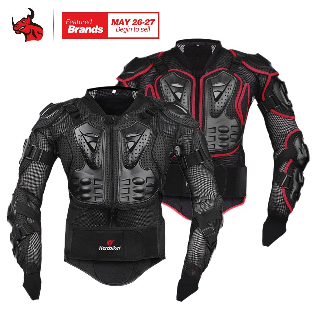 HEROBIKER Motorcycle Jacket Protective <font><b>Gear</b></font> Motocross <font><b>Gear</b></font> Armor Body Chest Motor Rider Racing Jacket Motorcycle Protection