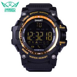 Amynikeer Bluetooth Watch EX16 Smart Watch Pemberitahuan Remote Control Pedometer Olahraga Watch IP67 Tahan Air Pria Watch PK A1