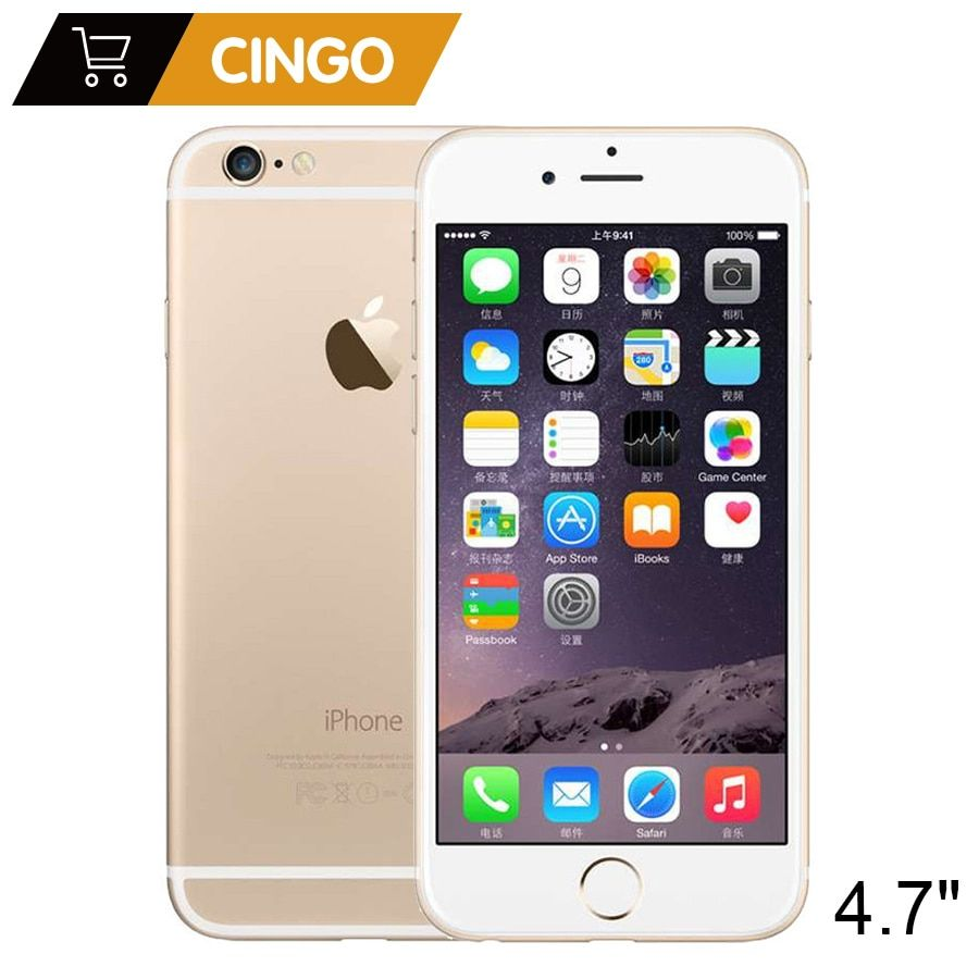 Unlocked Apple iPhone 6 1GB RAM 16/64/128GB ROM 4.7 inch 8.0 MP Camera IOS Dual Core 1.4GHz 3G WCDMA Used 4G LTE Mobile phone