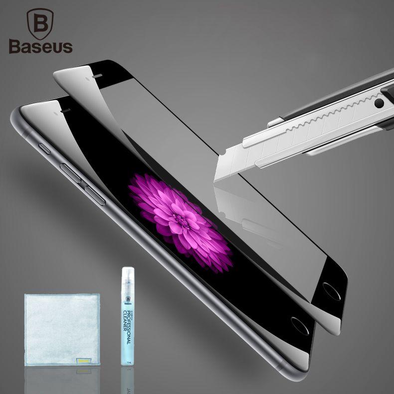 Baseus Trempé Verre Pour iPhone 6 6 s Plus Trempé Verre Protecteur d'écran 9 H 0.23 MM 3D Anti Bleu Couverture Souple De Protection Film