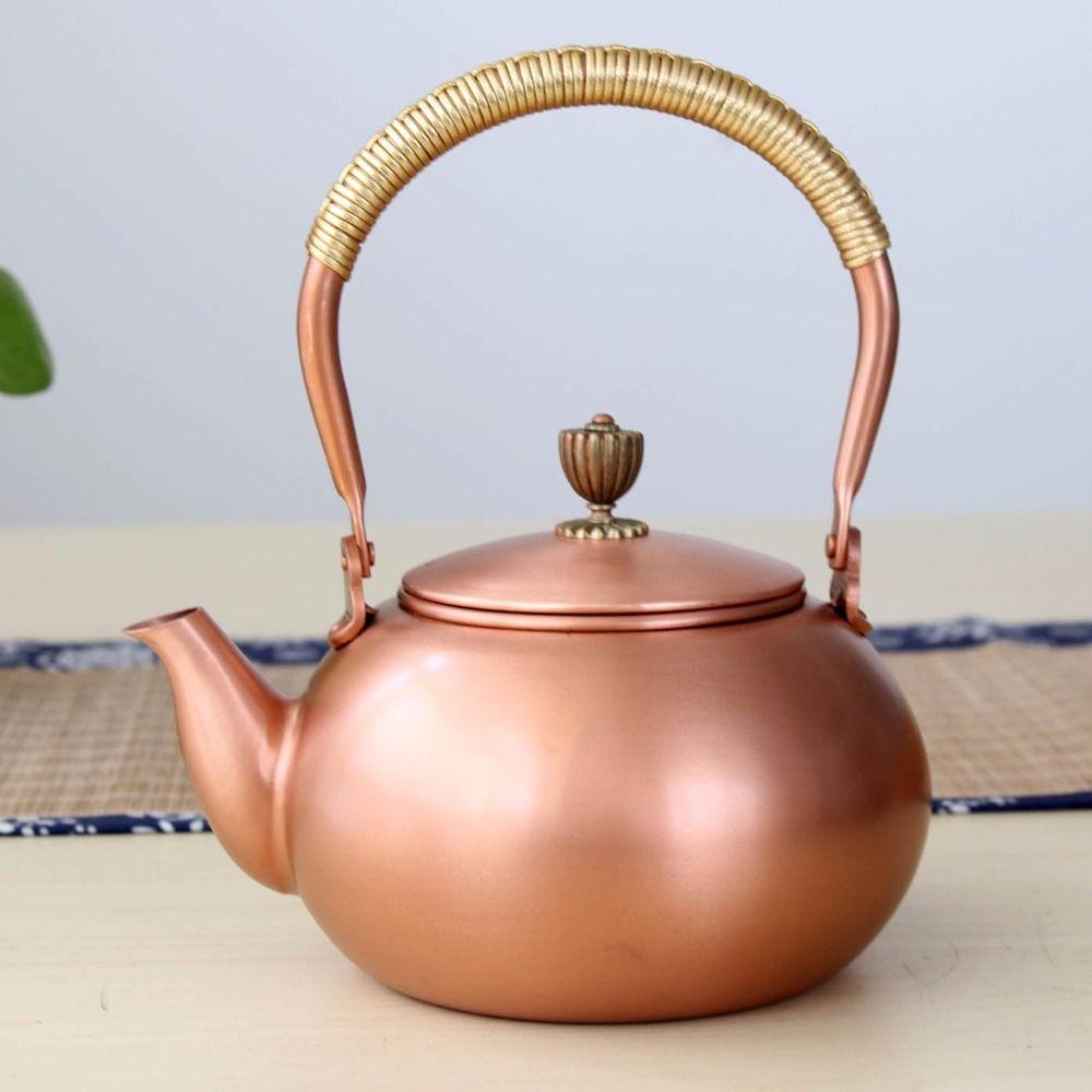 1.2L handmade copper teapot glass samovar ceramic enameled from clay enameled kettle metal dishes puer green tea gift Japanese