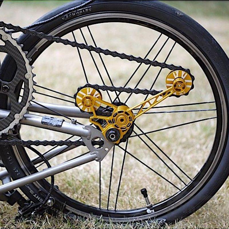 AGEKUSL Pro Bike Kette Spanner Für Brompton Fahrrad Pulley Wheel Set Schaltwerk Lager Guide Rad Für 1 2 3 geschwindigkeit CNC