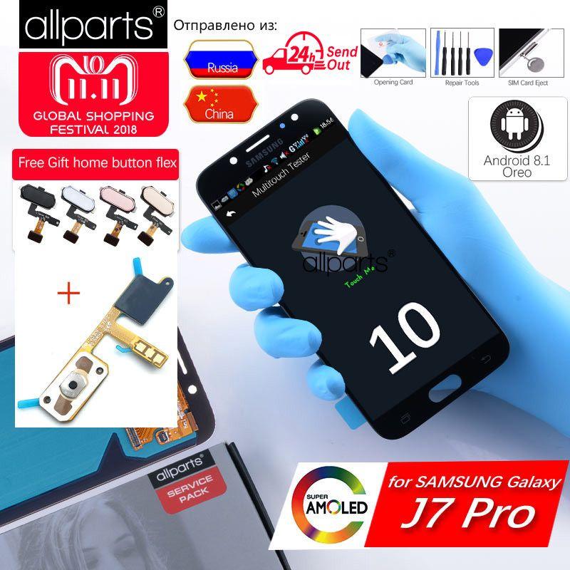D'ORIGINE 5.5 AMOLED Affichage Pour SAMSUNG Galaxy J7 Pro LCD Affichage Écran Tactile J730 J730F pour SAMSUNG J7 Pro LCD de Remplacement