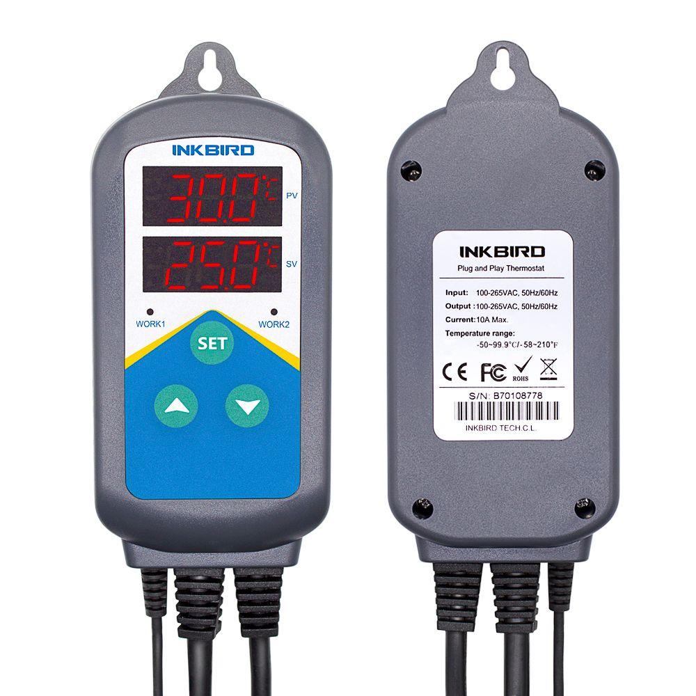 Régulateur de température de Thermostat de chauffage électronique pré-câblé de ITC-306T et contrôleur de minuterie numérique sans contrôle de refroidissement