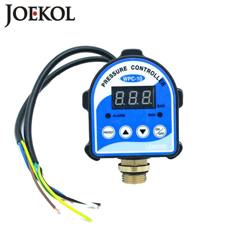 Free Shipping WPC10 Digital Water Pressure Switch Digital Display Eletronic Pressure Controller For Water Pump With G1/2