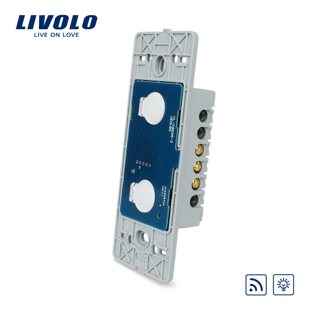 Livolo US standard two gang Wall Light Touch Dimmer&Remote Switch Base board ,Without  Glass Panel, VL-C502DR