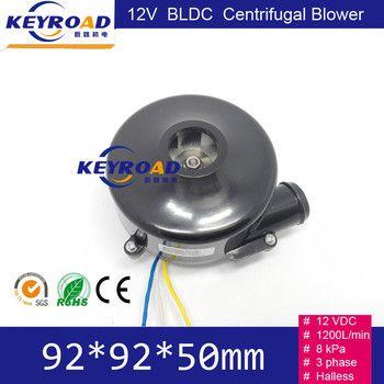 12 v 800LPM 22000 rpm 3-phase Brushless DC Puissant Ventilateur/Mini BLDC Centrifuge Électrique Air Blower avec 7kPa Pression