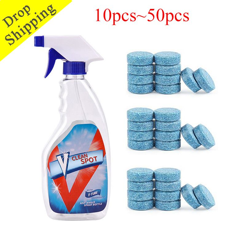Dropshipping 10/20/30/40/50pcs Multifunctional Effervescent Spray Cleaner Set Home Cleaning Concentrate Home Cleaning Tool
