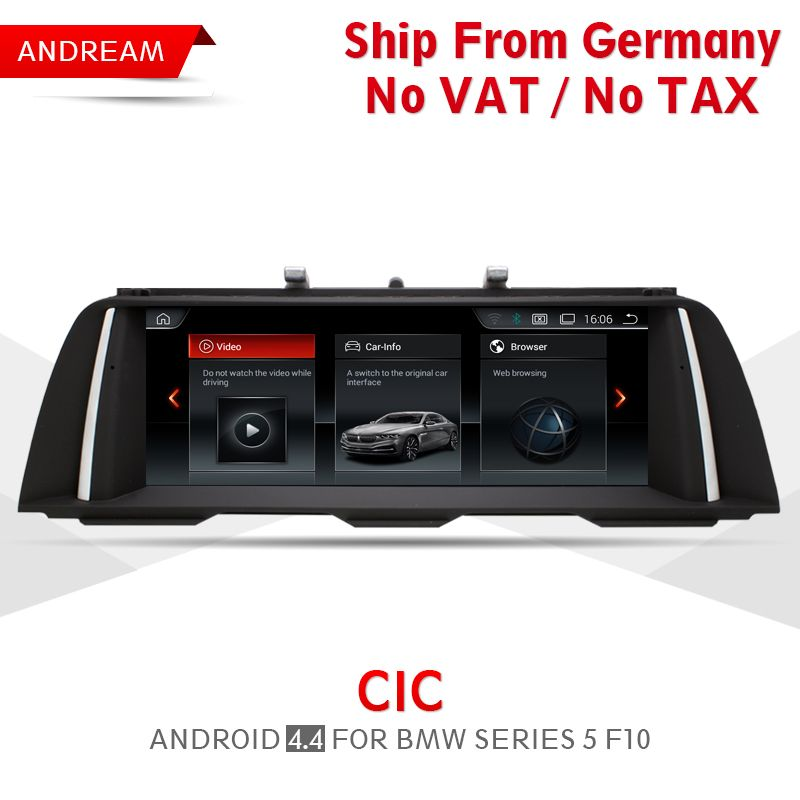 10.25 Android 4.4 Vehicle multimedia player For BMW Series 5 F10 Bluetooth gps navigation Wifi Free Germany Shipping EW964A