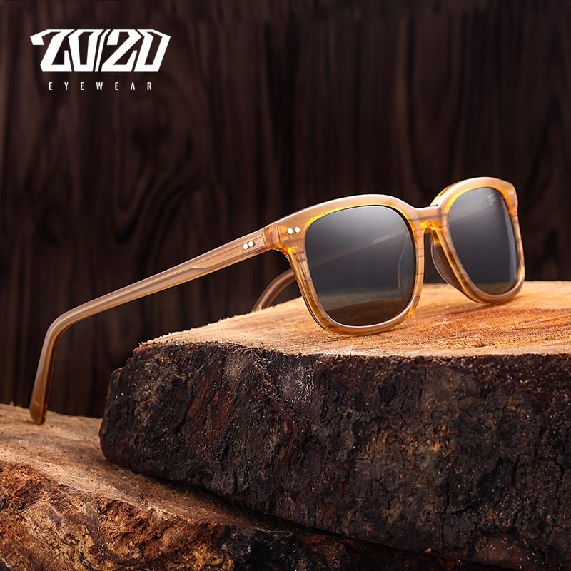 Classic Polarized Men Sunglasses Women Brand Designer Square Acetate Sun Glasses Driving Unisex Eyewear Gafas Oculos AT8006