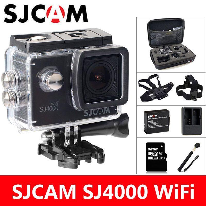 SJCAM SJ4000 WiFi Action Camera Sports DV 1080P 2.0 inch Screen HD Diving 30M Waterproof mini Camcorder Original SJ 4000 Cam