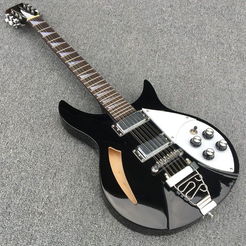 Hohe qualität, Semi Hollow body Rick 360 e-gitarre 12 saiten gitarre in Klassischen, alle Farbe sind vorhanden, freies verschiffen