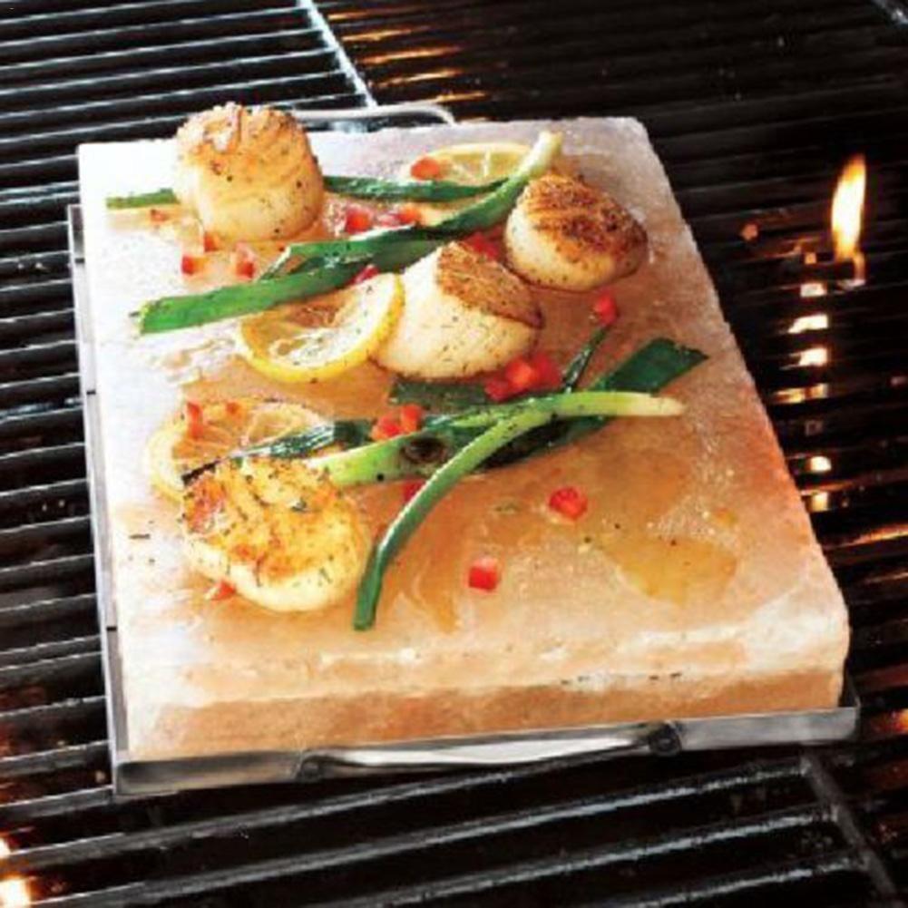 Bloc de sel de l'himalaya dalle de sel de Barbecue pour Camping en plein air accessoires de cuisson sel comestible Portable Barbecue brique de sel Barbecue 4