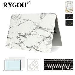 RYGOU Marbre Texture Cas de Couverture Pour Apple Macbook Air Pro Retina 11 12 13 15 pouce Pour Mac book Pro 13 15 A1706 A1707 A1708 Cas