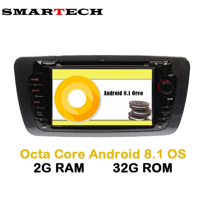 SMARTECH Octa 8-Core Android 8.1 Car DVD Stereo Radio Ibiza for Seat Ibiza Android Radio Ibiza DVD Car GPS With Mirroring link
