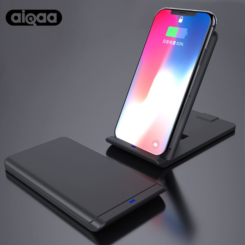 Aiqaa Qi Wireless Charger For iPhone X 8 10 Samsung Note 8 S8 Plus S7 S6 Phone Fast Wireless Charging 10W Docking Dock Station