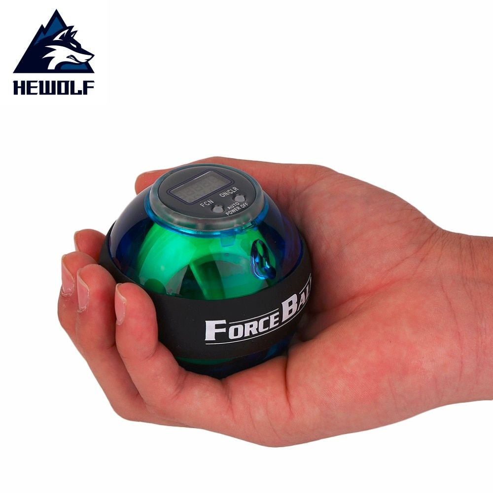 Hewolf Multifunctional LED Wrist Power Force Grip Ball Arm Muscle Exercise Speed Meter Counter Function Drop Shipping hot
