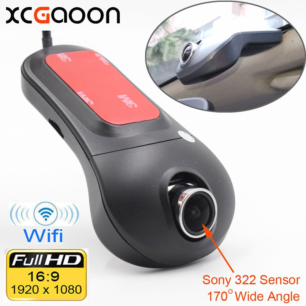 XCGaoon Wifi Car DVR Registrator Digital Video Recorder Camcorder Dash Camera 1080P Night <font><b>Version</b></font> Novatek 96655 Rotate 60 degree
