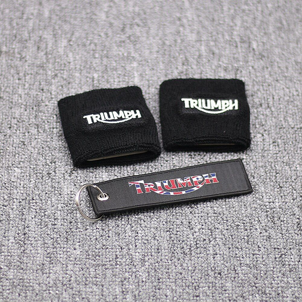 Noir réservoir de frein chaussettes couvre pour Triumph Daytona 675 600 1000 Street Triple vitesse Triple BK pièces de moto