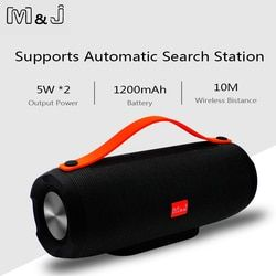 M & J Tragbare wireless Bluetooth Lautsprecher Stereo big power 10 W system TF FM Radio Musik Subwoofer Spalte Lautsprecher für Computer