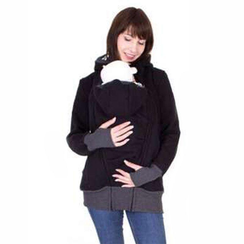 fashion style long sleeve mother autumn winter women hoddies carry baby infant sweatshirt zipper coat maternity warm clothing