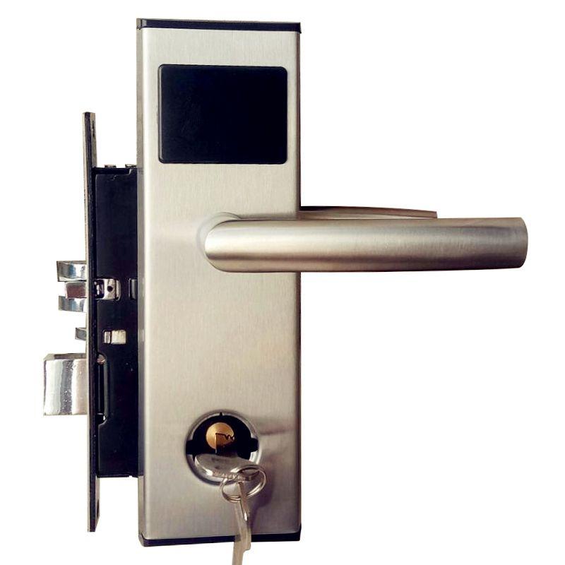 RFID Karte Digitale Hotel Türschloss Elektronische Keyless Sicherheits Eintrag 304 Edelstahl in Silber
