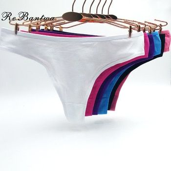 Rebantwa 10 pcs Dames Lingerie Calcinha Lingerie pour Femmes Bikini Culottes Lot femme sous-vêtements coton Tanga Mignon Solide G chaîne
