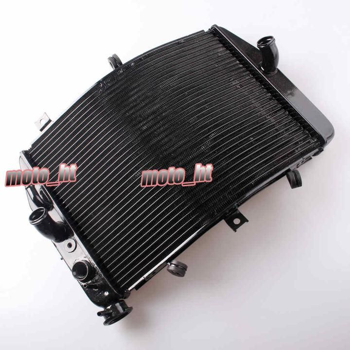 Aluminium Alloy Motorcycle Cooling Radiator For SUZUKI GSXR 600 750 2004 2005 K4 Black