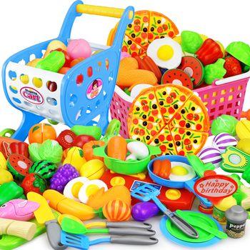 25 PCS Enfants Cuisine Jouer à Faire Semblant Jouets Coupe De Fruits Légumes Alimentaire Miniature Jouer Ne Maison L'éducation Jouet Cadeau pour Fille Kid