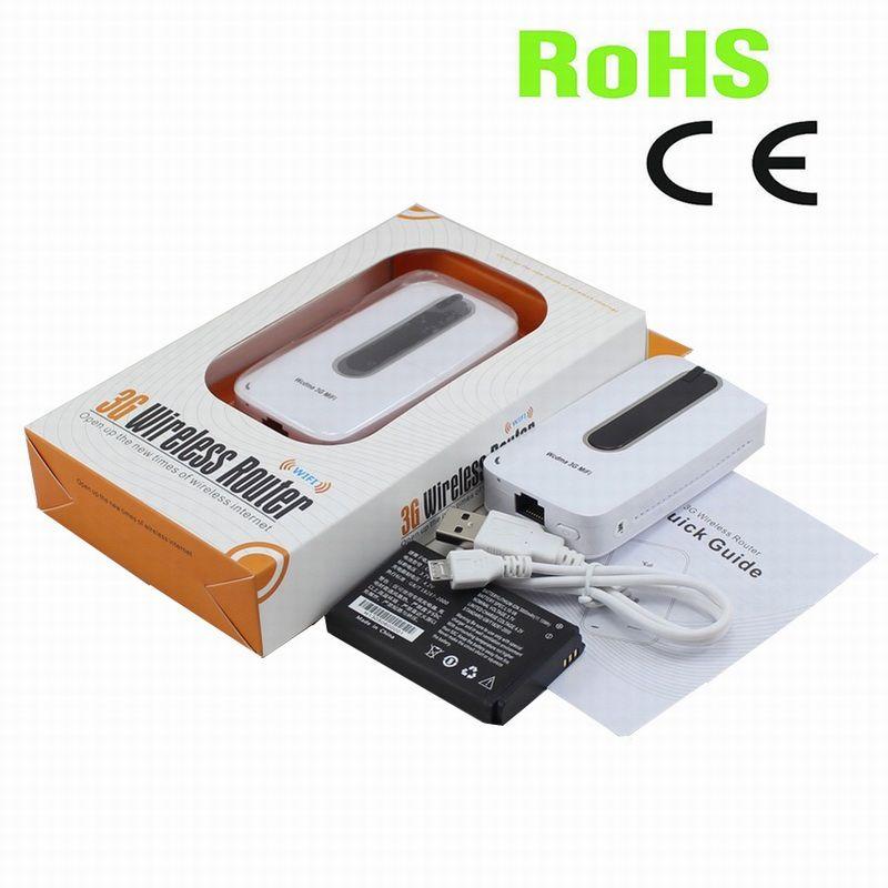 Livraison gratuite! 3000 mAh Puissance Banque Portable WIFI Hotspot 3G MIFI routeur avec sim fente pour carte et Ethernet RJ45 port