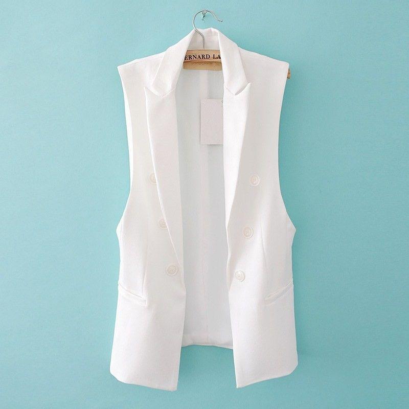 Matelassé Gilet pour Femmes Longue Sans Manches Blazer Gilet Veste Feminino Gilets Veste Femme Mode Bouton Gilet Outwear ow0114