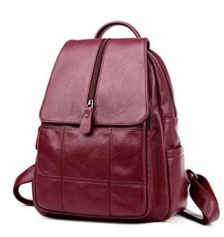 Amasie new arrival leather backpack genuine cow leather bag women double shoulder wine travel bag for ladys luxury EGT0363