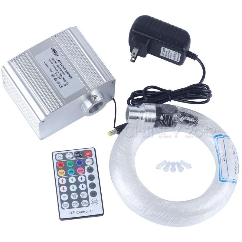 CREE chip 10W RGBW twinkle 28Key RF Remote LED fibre optique star sky ceiling Lights Kit 250pcs 0.75mm 3M optical fiber