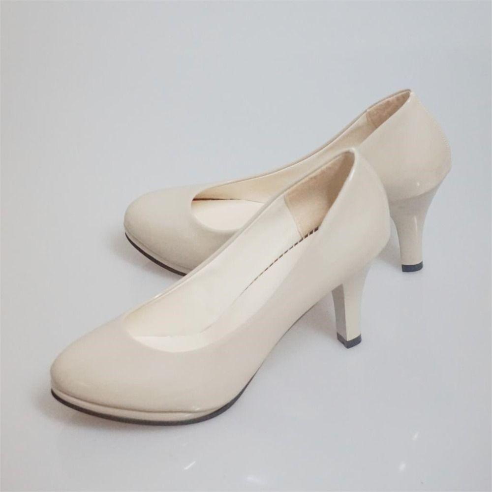 Zapatos de las mujeres Zapatos de Tacones Altos Sandalias de Las Bombas de 5 cm y 8 cm Boca baja Del Talón Grueso de los Altos Talones Elegantes Zapatos de Moda Mujer