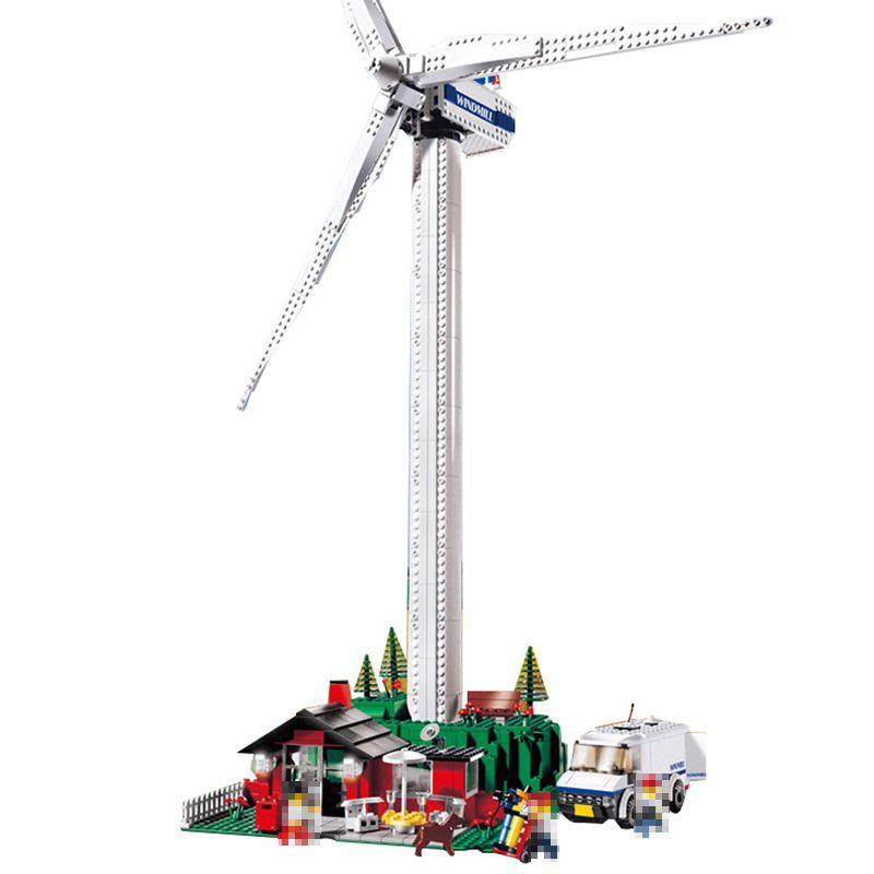 Compatible with Lego Technic 4999 model 37001 873pcs Creative Vestas Windmill Turbine building blocks bricks toys for children