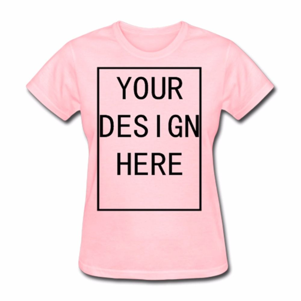 Пользовательские Для женщин пустой Стандартный Вес футболка