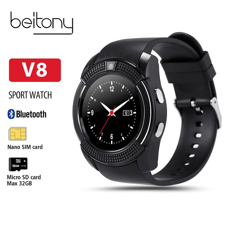 Beitony Smart Watch Fitness Tracker Nano SIMCard Whatsapp And Facebook Smartwatch Women Business For IOS Android PK DZ09 GT08