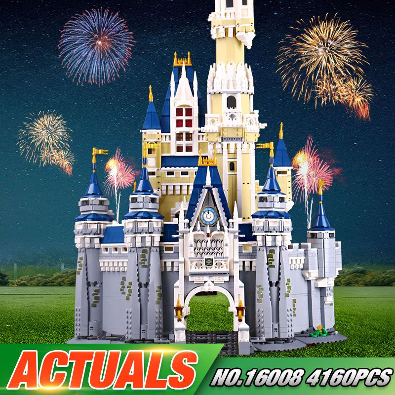 In stock LEPIN 16008 The 71040 Cinderella Princess Castle City Set Model Building Block Brick Educational Kid Toys For Gifts