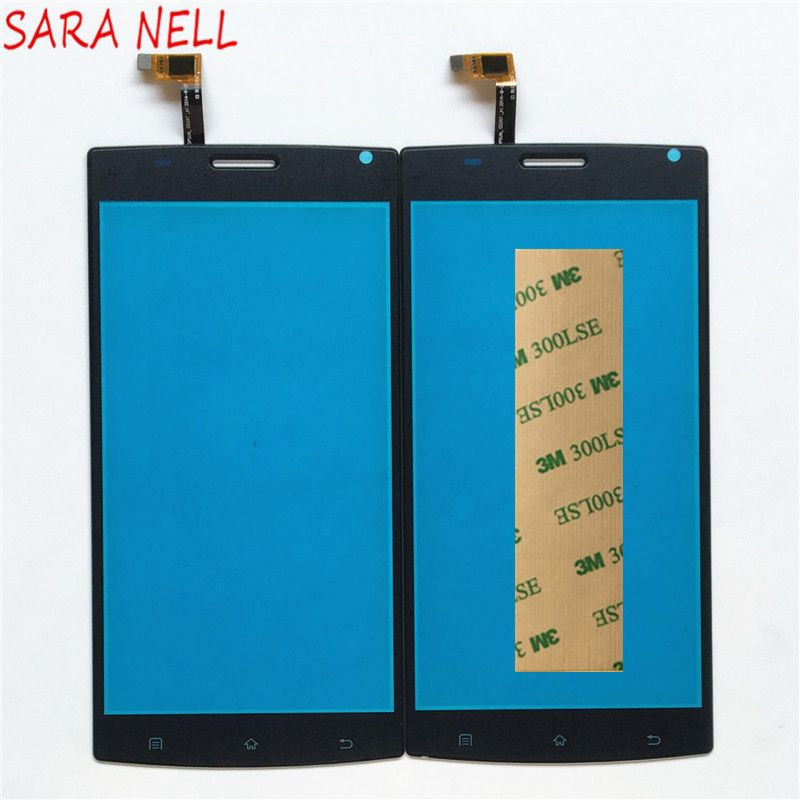 SARA NELL Phone Touch Screen Panel For MegaFon MFLoginPh Login Plus Touchscreen Digitizer Front Glass Replacement Sensor+tape