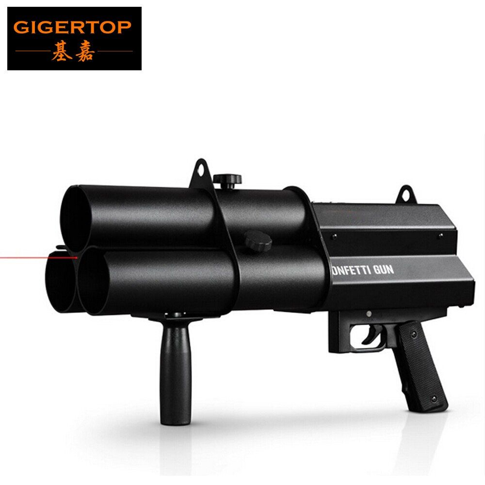 3 Heads Confetti Gun / FX Confetti Gun For Celebrations,Weddings,Openings Professional DJ Confetti Gun Stage Effect Machine