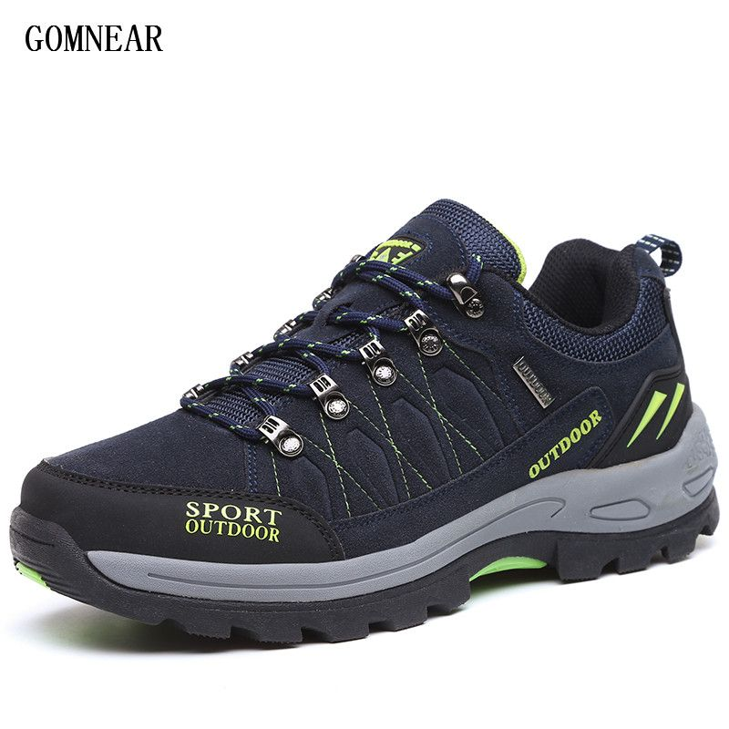 GOMNEAR New Arrival Big Size Men's HIking Shoes Male Outdoor Antiskid Breathable Trekking Hunting Tourism <font><b>Mountain</b></font> Sneakers