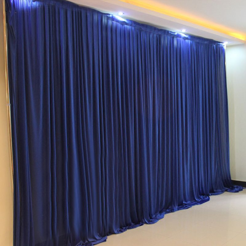 10x20ft Ice silk elegant wedding backdrop curtain drape wedding supplies simple curtain drapes background for party event