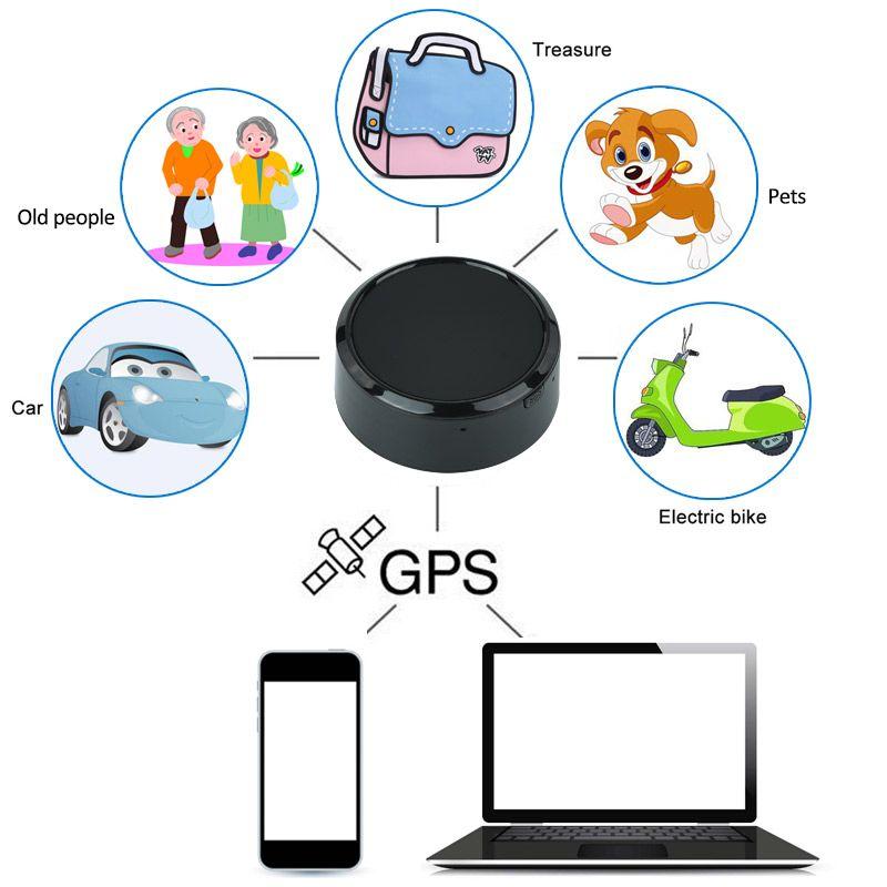 Traqueur de véhicule de voiture noir Mini traqueur antivol Google Link dispositifs de suivi en temps réel pour animaux de compagnie traqueur GPS localisateur d'enfants