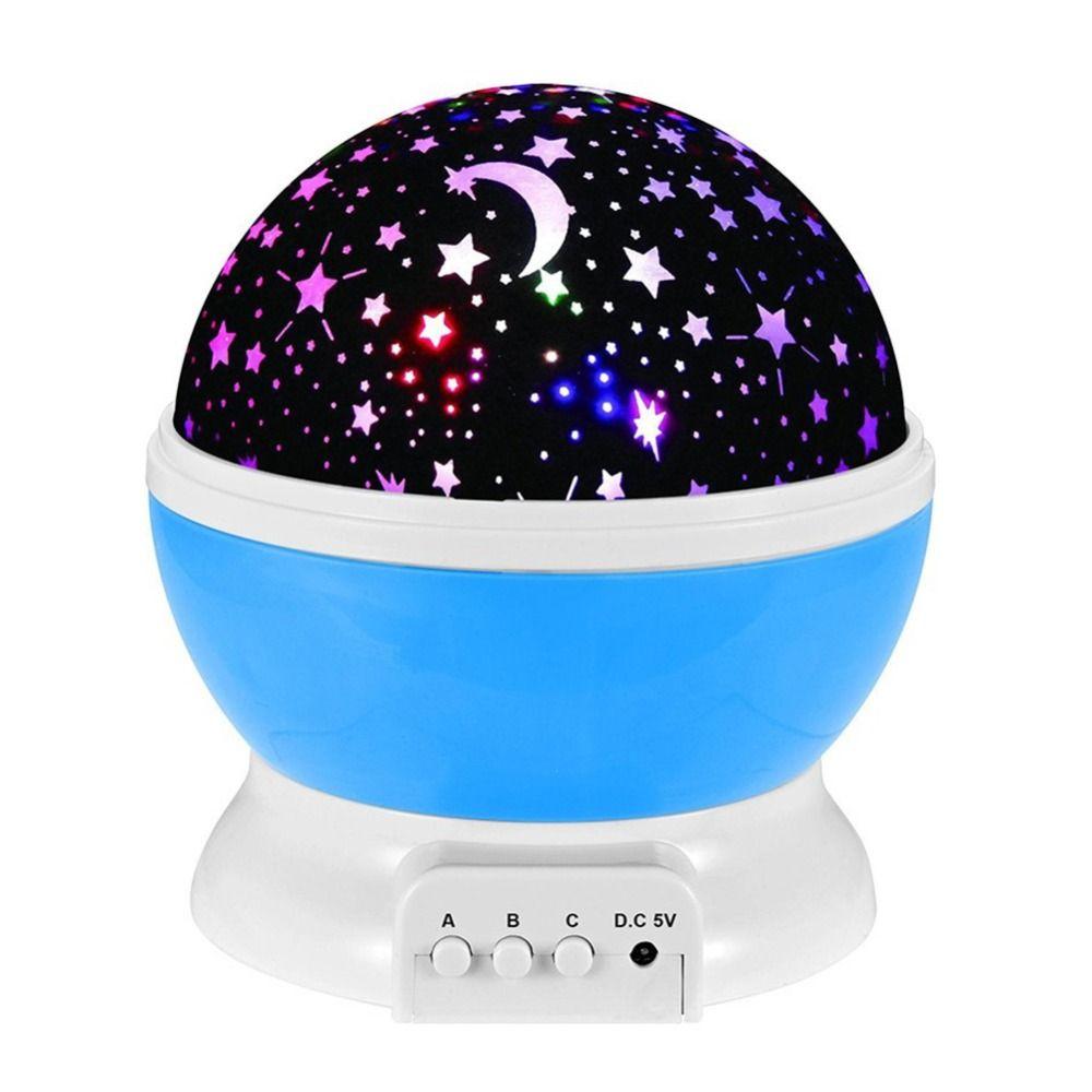 Romantique rêve rotatif lampe de Projection USB LED veilleuse ciel lune étoile maître projecteur pour enfants bébé sommeil éclairage