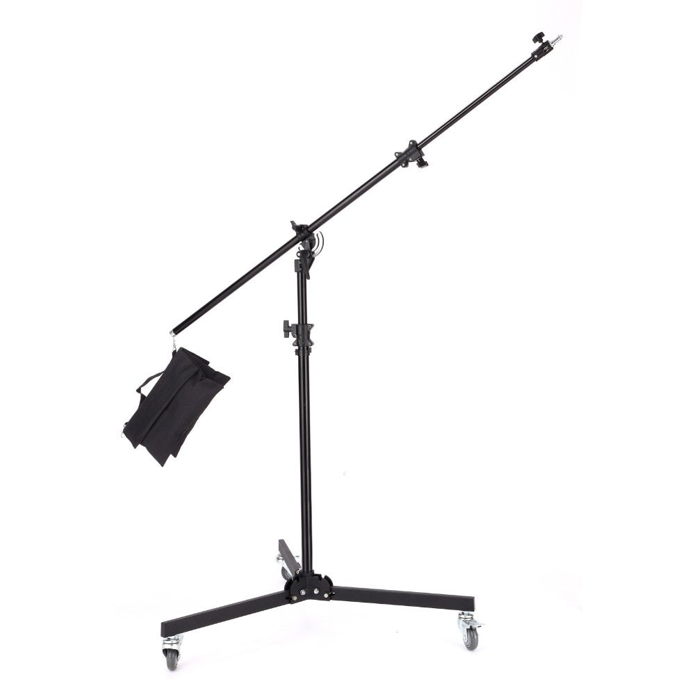 Meking 380cm / 12ft / 1Multi Function Light Boom stand Double Duty with Sand Bag support system Photo Studio Accessories